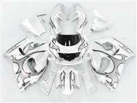 1996-2000 Suzuki GSXR 600 750 SRAD Silver Tribal on Silver Fairings | NSS9600-26