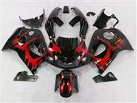 1996-2000 Suzuki GSXR 600 750 SRAD Red Tribal Fairings | NSS9600-5