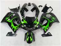 Green Tribal 1996-2000 Suzuki GSXR 600 750 SRAD Motorcycle Fairings | NSS9600-6