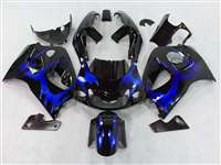 Blue Tribal 1996-2000 Suzuki GSXR 600 750 SRAD Motorcycle Fairings | NSS9600-7