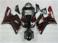 2000-2001 Yamaha YZF R1 Red Flames Fairings | NY10001-11