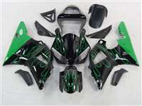 2000-2001 Yamaha YZF R1 Ghost green Flames Fairings | NY10001-14