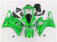 2000-2001 Yamaha YZF R1 Green Ghosted Flame Fairings | NY10001-21
