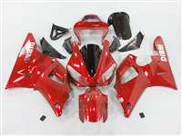2000-2001 Yamaha YZF R1 Red Ghosted Flame Fairings | NY10001-22
