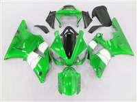 2000-2001 Yamaha YZF R1 Metallic Green/White Fairings | NY10001-24