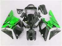 Electric Green Flames 2000-2001 Yamaha YZF R1 Motorcycle Fairings | NY10001-26
