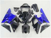 Electric Blue Flames 2000-2001 Yamaha YZF R1 Motorcycle Fairings | NY10001-27