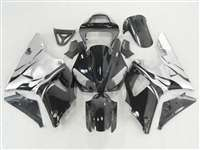 Electric Silver Flames 2000-2001 Yamaha YZF R1 Motorcycle Fairings | NY10001-28