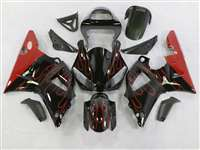 2000-2001 Yamaha YZF R1 Red Flames Fairings | NY10001-30