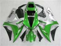 2002-2003 Yamaha YZF R1 Metallic Green/Silver Fairings | NY10203-11