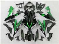 2004-2006 Yamaha YZF R1 Black/Green Accents Fairings | NY10406-38