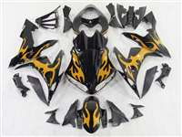 Gold Tribal 2004-2006 Yamaha YZF R1 Motorcycle Fairings | NY10406-5