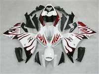 2009-2011 Yamaha YZF R1 White Flames Fairings | NY10911-10