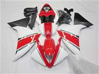 2012-2014 Yamaha YZF R1 Red White Motorcycle Fairings | NY11215-3