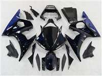 Ice Blue Flame Yamaha 2003-2005 YZF R6 and 2006-2009 R6S Motorcycle Fairings | NY60305-1