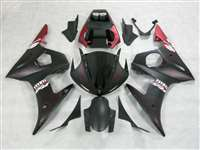 Matte Black Flame Yamaha 2003-2005 YZF R6 and 2006-2009 R6S Motorcycle Fairings | NY60305-12