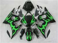 Green Tribal Yamaha 2003-2005 YZF R6 and 2006-2009 R6S Motorcycle Fairings | NY60305-13