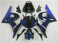 Blue Flame Yamaha 2003-2005 YZF R6 and 2006-2009 R6S Motorcycle Fairings | NY60305-16