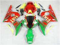FIAT Red Yamaha 2003-2005 YZF R6 and 2006-2009 R6S Motorcycle Fairings | NY60305-19