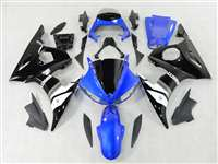 Blue/Black Yamaha 2003-2005 YZF R6 and 2006-2009 R6S Motorcycle Fairings | NY60305-2