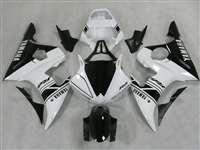Yamaha 2003-2005 YZF R6 and 2006-2009 R6S Racing White Motorcycle Fairings | NY60305-26