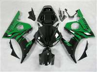 Green Flame Yamaha 2003-2005 YZF R6 and 2006-2009 R6S Motorcycle Fairings | NY60305-27