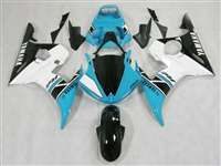 Yamaha 2003-2005 YZF R6 and 2006-2009 R6S Motorcycle Fairings Blue/White | NY60305-28