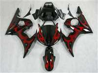Yamaha 2003-2005 YZF R6 and 2006-2009 R6S Red Tribal Motorcycle Fairings | NY60305-31
