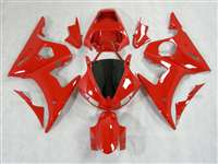 Yamaha 2003-2005 YZF R6 and 2006-2009 R6S Solid Red Motorcycle Fairings | NY60305-32