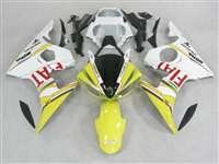Yellow FIAT Yamaha 2003-2005 YZF R6 and 2006-2009 R6S Motorcycle Fairings | NY60305-35