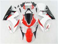 Yamaha 2003-2005 YZF R6 and 2006-2009 R6S White/Red Motorcycle Fairings | NY60305-5