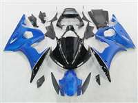 Yamaha 2003-2005 YZF R6 and 2006-2009 R6S Blue Metallic Motorcycle Fairings | NY60305-6