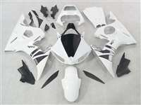Yamaha 2003-2005 YZF R6 and 2006-2009 R6S Killer White Motorcycle Fairings | NY60305-8