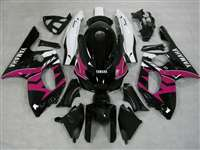 1997-2007 Yamaha YZF 600R Pink Black Fairings | NY69707-13