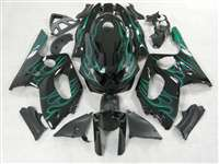 Green Flame 1997-2007 Yamaha YZF 600R Motorcycle Fairings | NY69707-27