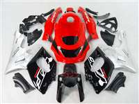1997-2007 Yamaha YZF 600R Silver Red OEM Style Fairings | NY69707-3