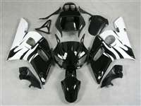 1998-2002 Yamaha YZF R6 White/Black Fairings | NY69802-16