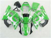 1998-2002 Yamaha YZF R6 Green/Silver Tribal Fairings | NY69802-22