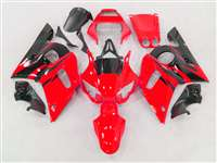 1998-2002 Yamaha YZF R6 Red/Black Flame Fairings | NY69802-30