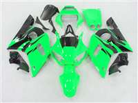 1998-2002 Yamaha YZF R6 Green/Black Flame Fairings | NY69802-31