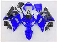 1998-2002 Yamaha YZF R6 Blue/Black Flame Fairings | NY69802-32