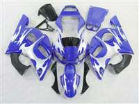 1998-2002 Yamaha YZF R6 Blue/Silver Tribal Fairings | NY69802-39