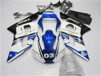 1998-2002 Yamaha YZF R6 White/Blue Alpinestars Fairings | NY69802-50
