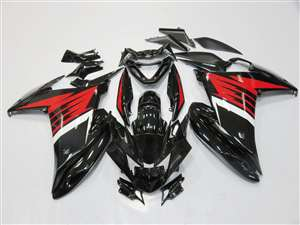 2009-Present Yamaha FZ6R Black/White/Red Fairings | NYF0916-3