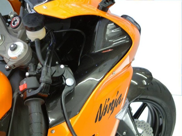 Kawasaki Zx6r 2007 2008 Dash Panels Pair Real Carbon Fiber
