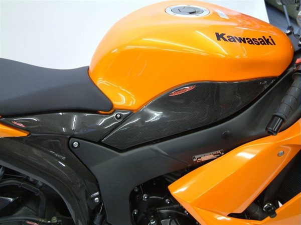 Kawasaki ZX6R 2007 2008 Side Panel Upper Pair
