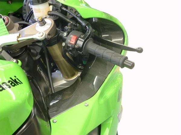 Kawasaki Zx10r 2006 2007 Dash Panel Covers Pair Real Carbon Fiber