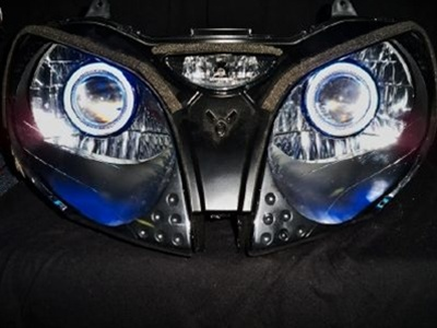 Kawasaki Zzr1200 Hid Projector Ccfl Halo Eyes Kit