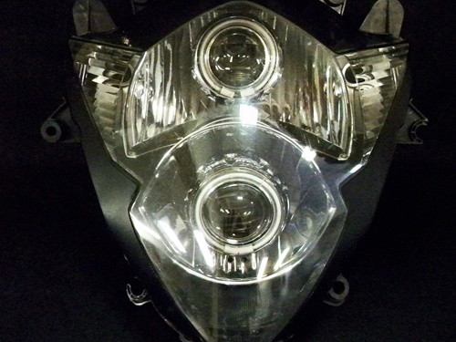 Suzuki Gsxr 1000 05 06 Dual Hid Projector Ccfl Halo Eye Kit