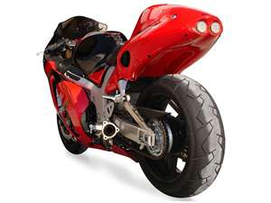 Hotbodies SUZUKI Hayabusa (04-05) ABS Undertail w/ built in LED brake/signal lights - Pearl Crystal Red